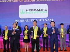 """Herbalife Nutrition tiếp tục được trao danh hiệu """"Thương hiệu thực phẩm bổ sung dinh dưỡng hàng đầu"""" tại Giải thưởng Rồng Vàng năm 2021"""