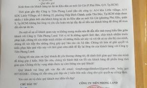 Tiên Phong Land gửi công văn khắc phục sai phạm tại dự án Khu dân cư mới Gò Cát