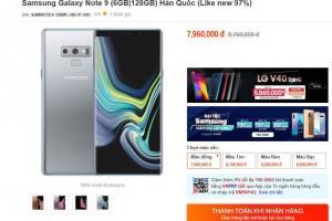 Galaxy Note9 cũ giá còn dưới 8 triệu tại Việt Nam