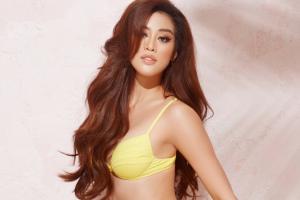Khánh Vân diện bikini phong cách nhiệt đới
